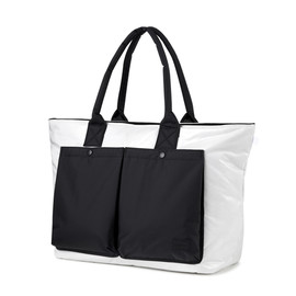 "fragment design, HEAD PORTER - ""fragment design"" TOTE BAG WHITE/BLACK"