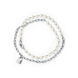 TIFFANY&Co. - HardWear Pearl Lock Necklace in Silver