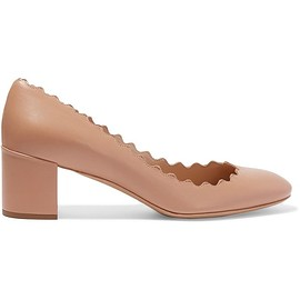 Chloé - Lauren scalloped leather pumps