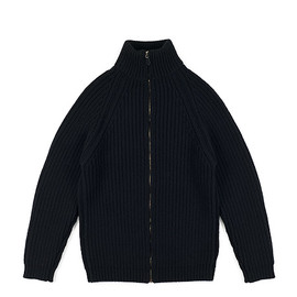 Corgi - Zip Knit Cardigan-Black
