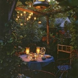 little cafe in the backyard?