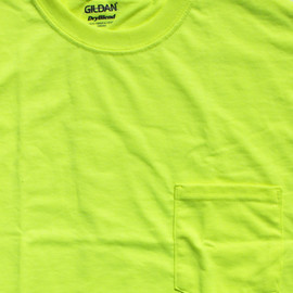 GILDAN - High Visibility Work Pocket Tee 2pack / safety green