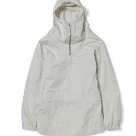 nonnative - EXPLORER HOODED SHIRT - COTTON MINI HERRINGBONE
