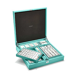 TIFFANY&Co. - Everyday Objects mahjong set in a Tiffany Blue® leather box.