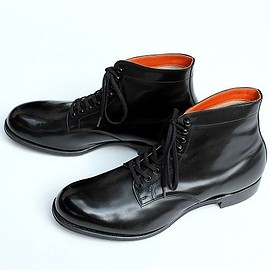 commono reproducts - lace up boots -black-