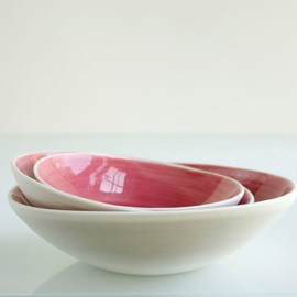 Raspberry Pink Nesting Bowl Small Set