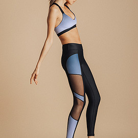 underlash - blue metric full leggings