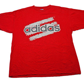 adidas - Vintage 90s Adidas Red Cotton Shirt Made in USA Mens Size XL