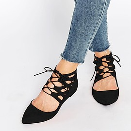 ASOS - LEVEL UP Lace Up Ballets