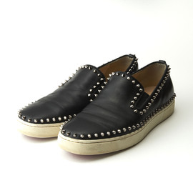 Christian Louboutin - Studded Slip-on Shoes