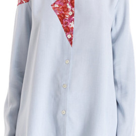 Thakoon Addition - floral panel button front shirt