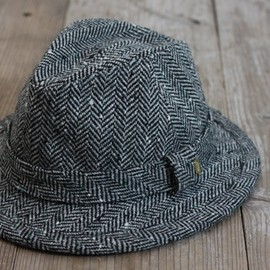 DECHO - NEP WOOL CENTER CREASE HAT col:GRAY