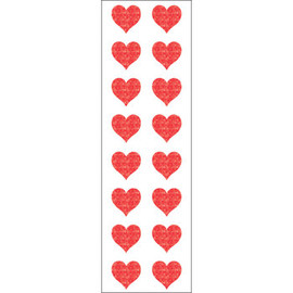 "Red & Pink Hearts Stickers - 6.5"" x 2"""