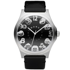 MARC BY MARC JACOBS - MULTI WILLIAM graphic LEATHER WATCH MBM1156