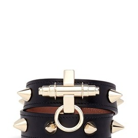 GIVENCHY - Obsedia stud double wrap leather bracelet