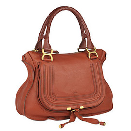 Chloe - Marcie medium shoulder bag Whiskey color