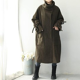 Long wool coat - Loose Fitting Long wool coat, winter Jacket for Women, Maternity winter Clothing