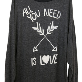 WILDFOX - ALL YOU NEED IS LOVE - ROAD TRIP SWEATER DRESS