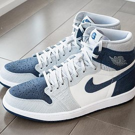 NIKE - air jordan 1 georgetown hoyas pe player edition white navy grey