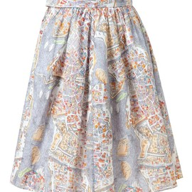 CARVEN - Paris Map Printed Skirt