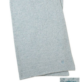 kashwere - MIX HALF BLANKET tender blue/creme