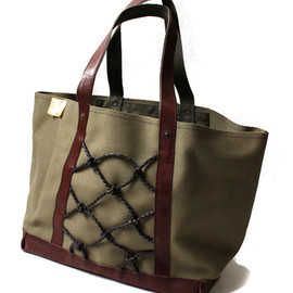 KAPITAL - Neocanvas Leather Mesh Tote