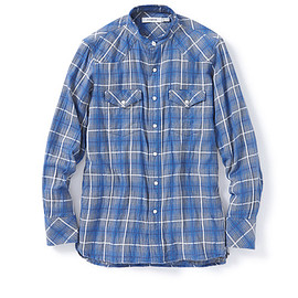 nonnative - RANCHER SHIRT C/R TONE ON TONE CHECK