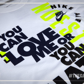 Nike - Love Me or Hate Me Tee - White/Navy/Volt