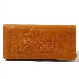 "COSMIC WONDER Light Source - VEGETABLE TANNED LEATHER WALLET - ""Astral Plains"" VERSION"