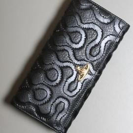 Vivienne Westwood - Classic Squiggle Embossed Leather Purse in Black