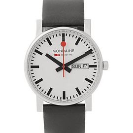 Mondaine - Evo Day-Date Stainless Steel and Leather Watch