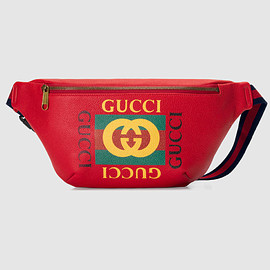 GUCCI - print leather belt bag