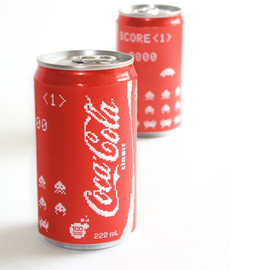 Coca-Cola - Concept:Space Invaders' Coca-Cola cans
