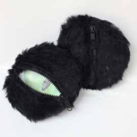 """7 Little Moments - """"See Money Open Eyes"""" Series (「見錢開眼」系列) Coin Bag - Black Cat"""