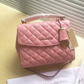 MICHAEL KORS - MICHAEL Michael Kors Ava Small Quilted-Leather Satchel Pink