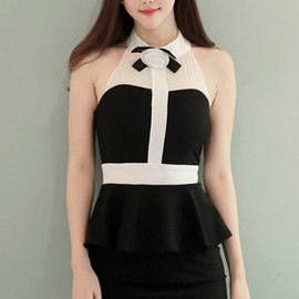 LUXE ASIAN - Asian Women Dresses Fashion Style Forever 21 Korean Fashion Online Shopping Coco Corsage Black Dress