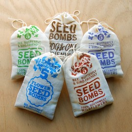 visualingual - Any 5 Seed Bombs for Guerilla Gardening with Combined S/H Choose from Herbs, Edible Flowers and Regional Varieties