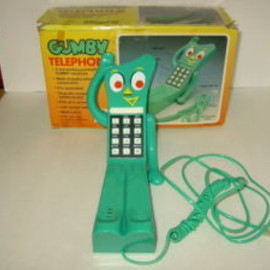 GUMBY - NEW in Box Vintage Gumby Telephone  (Free Priority Mail Shipping)