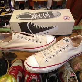 "converse - 「<used>90's converse ALLSTAR OX sunbleached white""made in USA"" W/BOX size:US10(28.5cm) 8800yen」販売中"