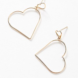urban outfitters - Simple Heart Drop Earring