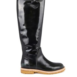 Maison Martin Margiela - Burnished leather knee-length boots