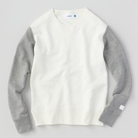 ALOYE - Study - Color Block Sweat Shirt (Offwhite-Gray)