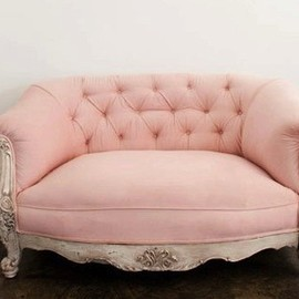 what a little beaut #sofa #french #vintage #pink