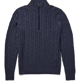 Loro Piana - Cable-Knit Baby Cashmere Half-Zip Sweater