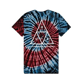 HUF - TRIPLE TRIANGLE SPIRAL TEE (Blue/Red)