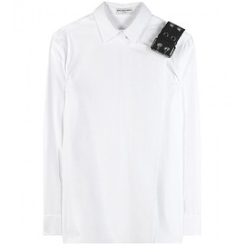 BALENCIAGA - Embellished cotton shirt