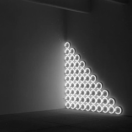 "Dan Flavin - ""untitled (to a man, George McGovern)"", 1972. Original B&W print, Dia Center for the Arts, NY."