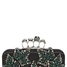 Alexander McQueen - FW2014 EMBELLISHED SATIN KNUCKLE BOX CLUTCH
