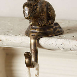 Anthropologie - Snow-Hopper Stocking Holder
