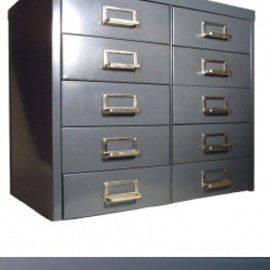 "アメリカのスチール家具メーカー【Art Steel Co. New York】社製 - 1950-60's ""Art Steel Co. N.Y."" 10 Drawer Cabinet"